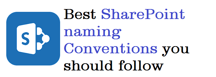 SharePoint naming Conventions