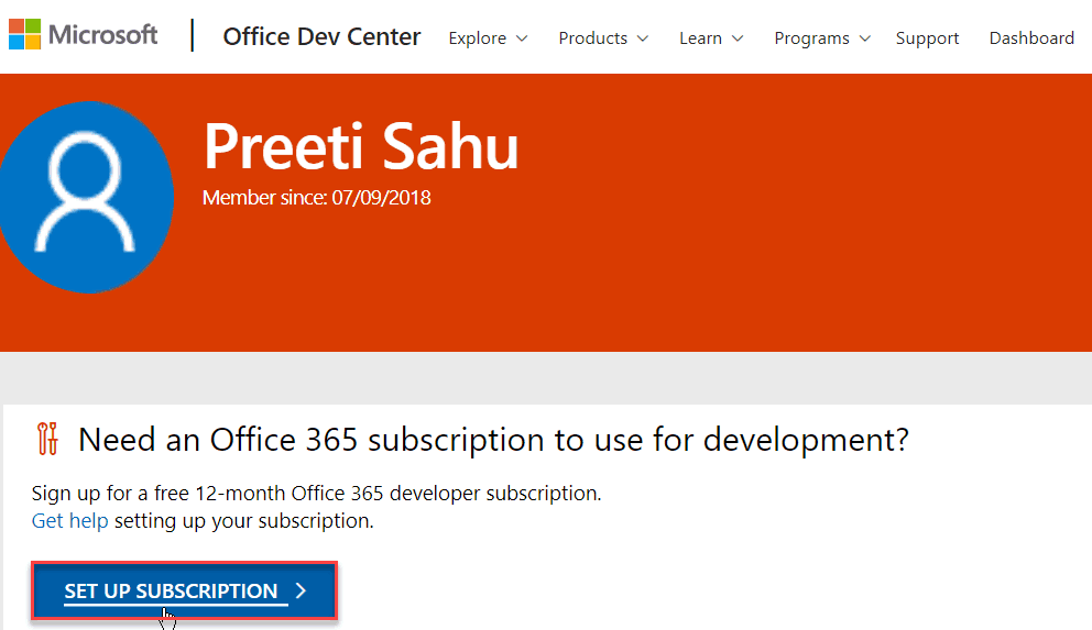 Office development program one year free subscription