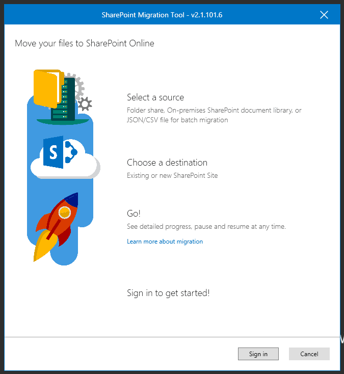 file share to sharepoint migration using sharepoint migration tool