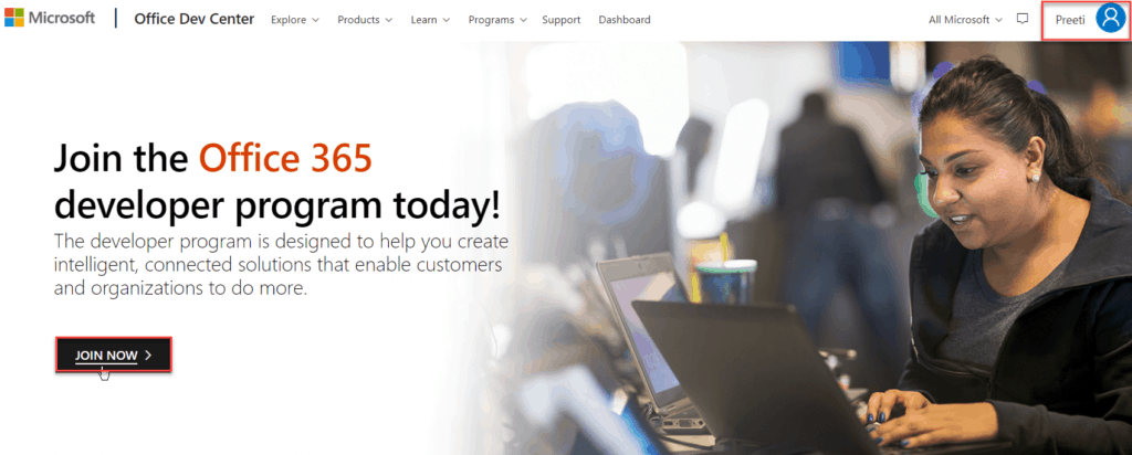 join office 365 developer program