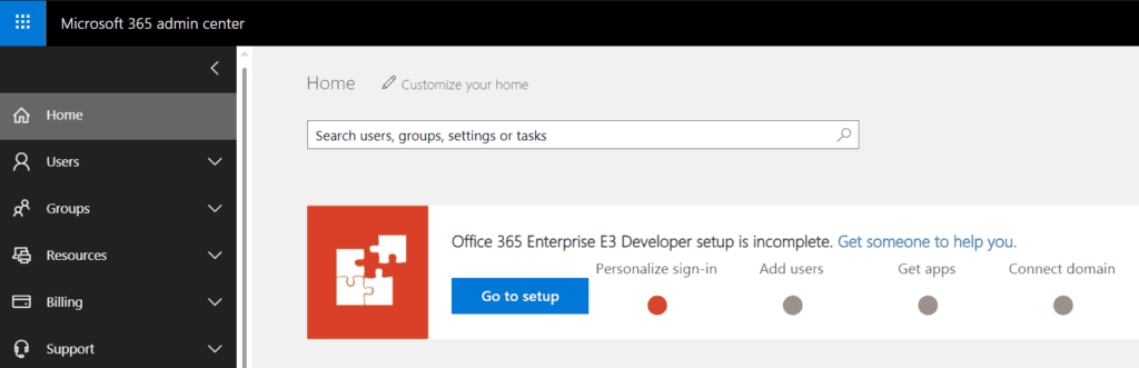 office 365 developer program sign up