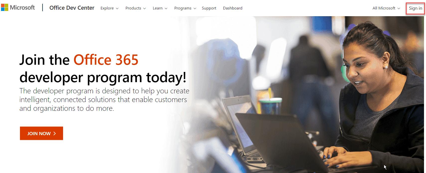 office 365 developer program