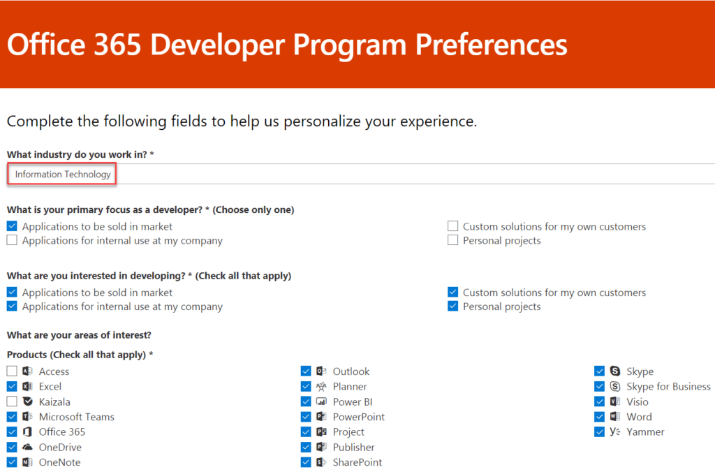 office 365 developer subscription free