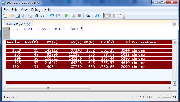 powershell get process memory usage remote computer