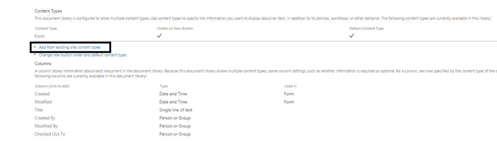 change content type infopath form