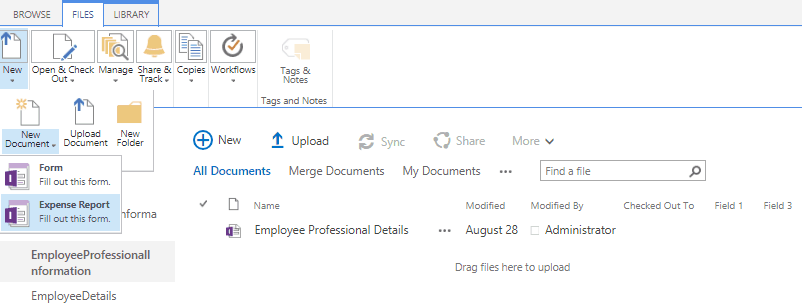 infopath form library sharepoint online