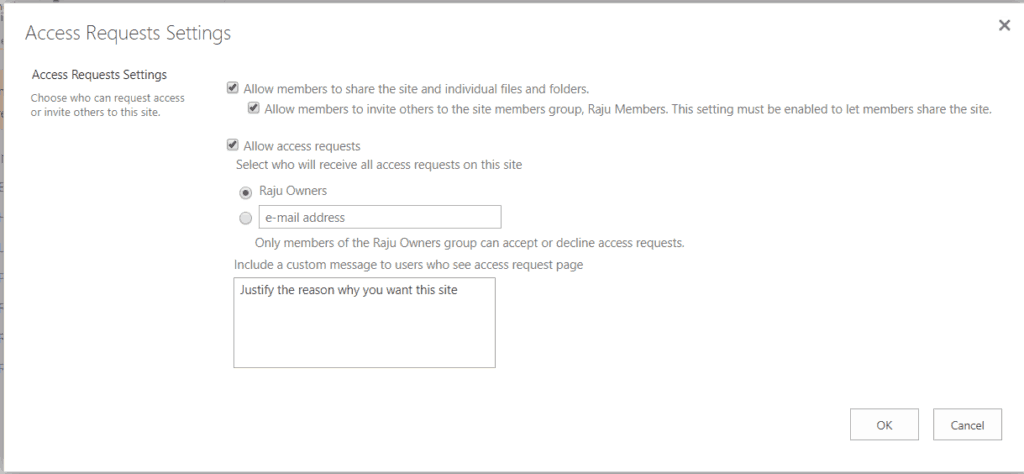 sharepoint online access requests multiple email addresses