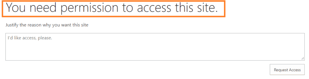 sharepoint 2013 access request settings