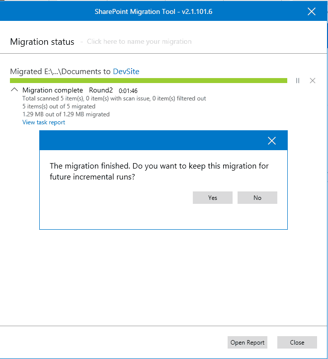 file share to sharepoint migration free tool
