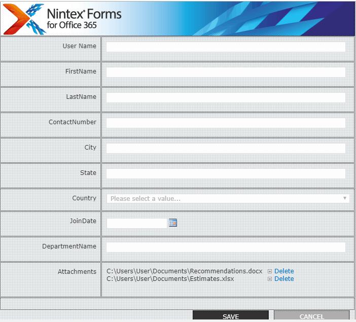 Build nintex forms