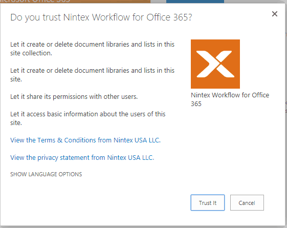 Install and configure nintex workflow for office 365
