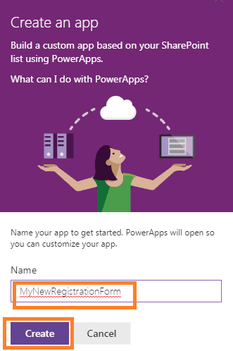 PowerApps sharepoint list