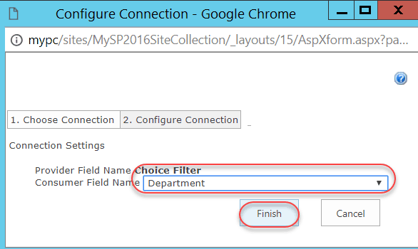 choice filter web part example in sharepoint online