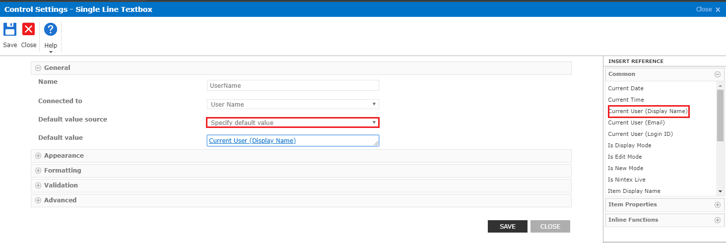 populate current user in nintex forms