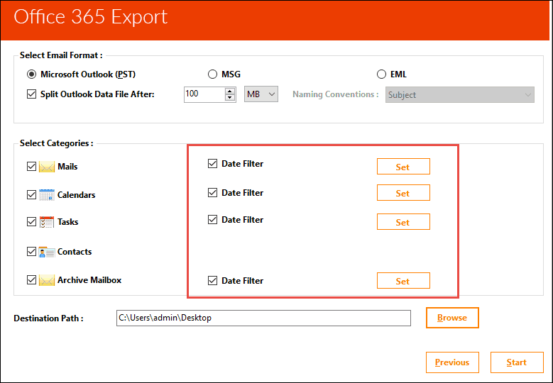 export pst file from office 365 online
