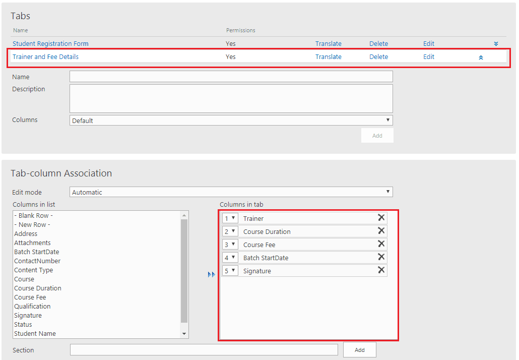 infowise ultimate tab and tab permissions in office 365