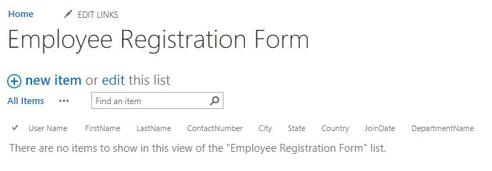 create list form using nintex