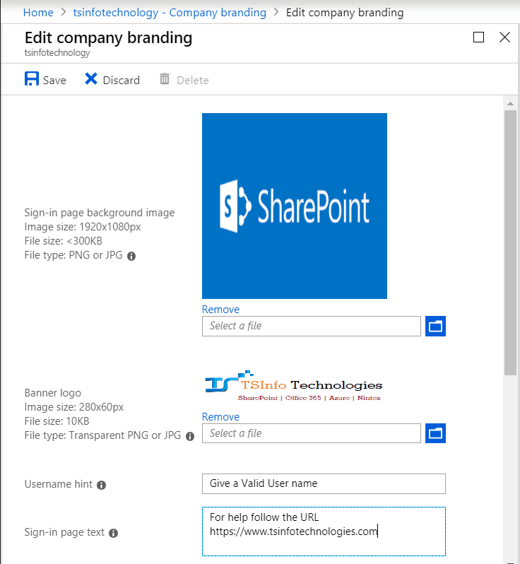 Add Custom Branding to Office 365 Sign-In Page