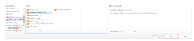 Get Started with Site Web Part in SharePoint Online