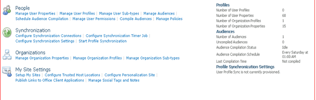 How to Configure User Profile Service Application step by step