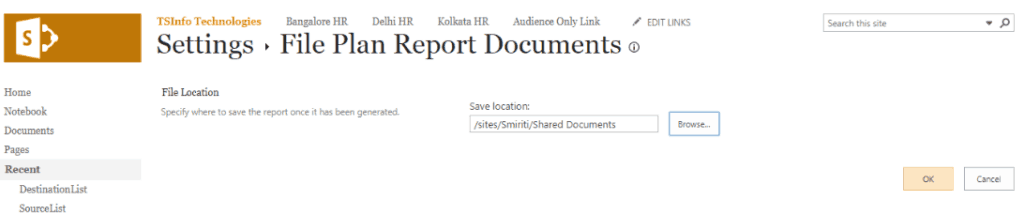 file plan report sharepoint online