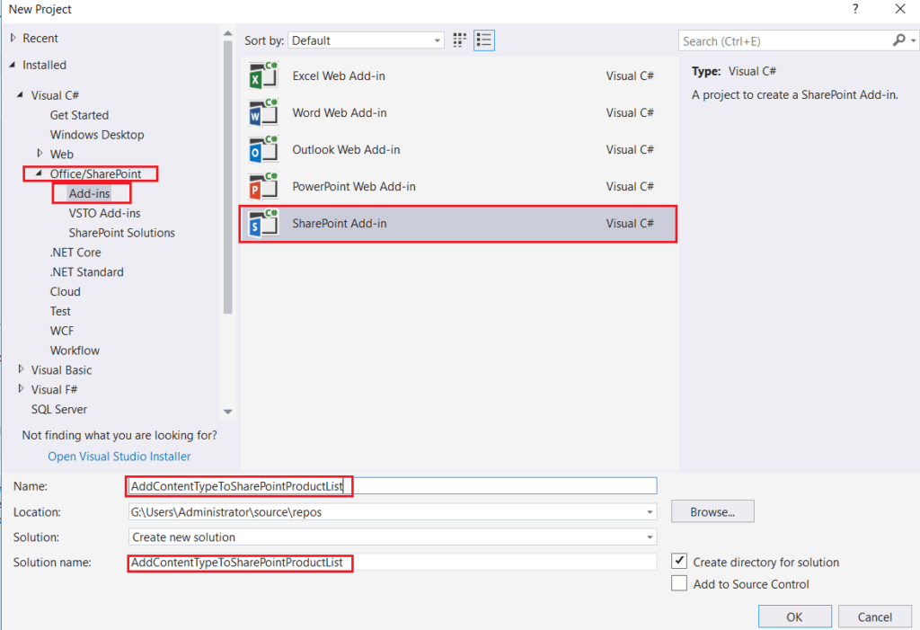 SharePoint Hosted App or Add-in Example: Create Site Column