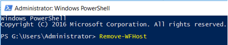 Sharepoint2016: An Error Occurred when uninstalling the workflow manager1.0