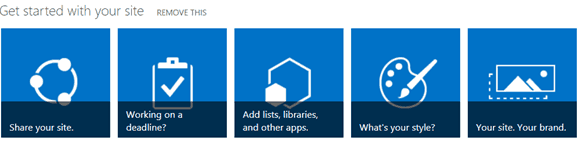 get started with your site web part sharepoint
