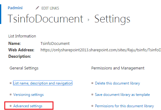 add link to document library sharepoint 2013
