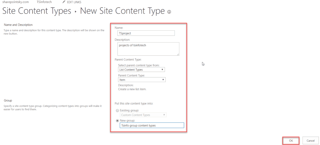 sharepoint content type