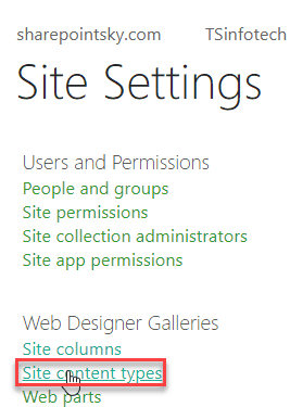 sharepoint online content types