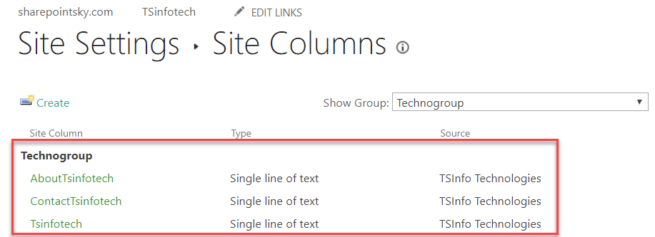content type in sharepoint