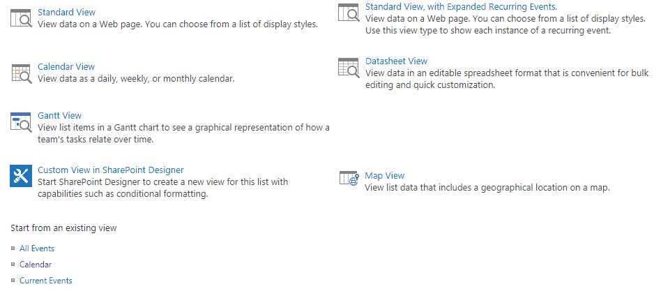 sharepoint 2016 calendar web part