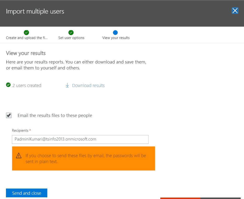 create bulk users in office 365 admin center