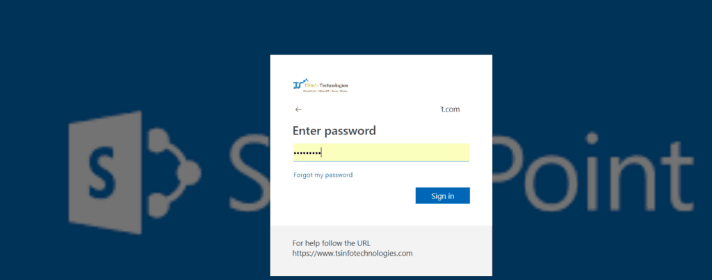 customize office 365 login page