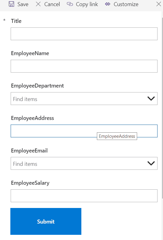 powerapps custom forms