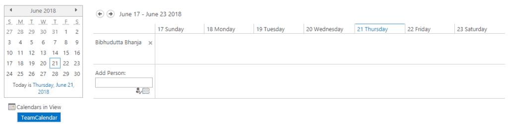 create sharepoint calendar