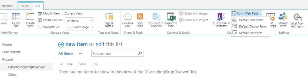 how to create a cascading drop down list in sharepoint 2013