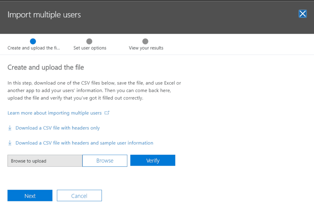 how do I add another user to office 365 office 365 bulk user import csv