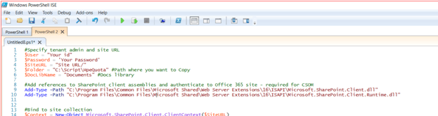 powershell upload file to sharepoint document library