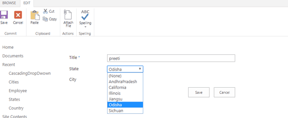 sharepoint 2013 cascading dropdown by jquery