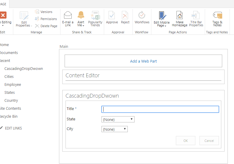 sharepoint 2013 cascading dropdown in jquery