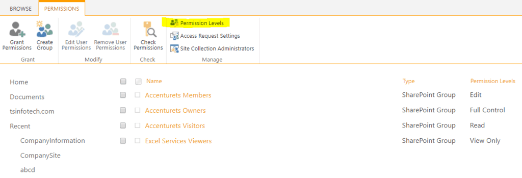 sharepoint 2013 permission levels