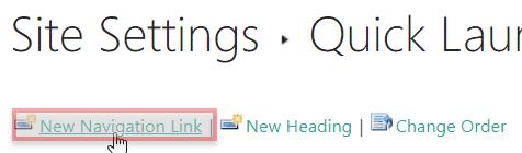 sharepoint 2016 left navigation menu customization