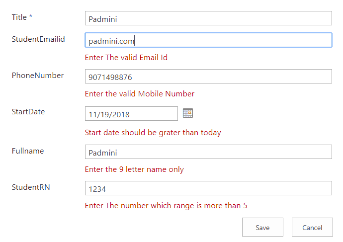 SharePoint column validation number of digits