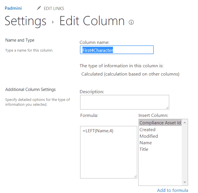 sharepoint online calculated column