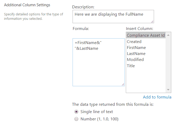 sharepoint calculated column examples