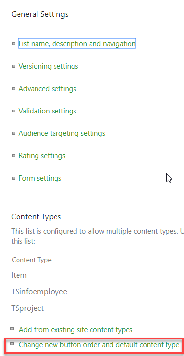 sharepoint create content types