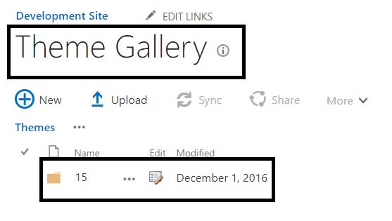 create a custom theme in sharepoint 2016