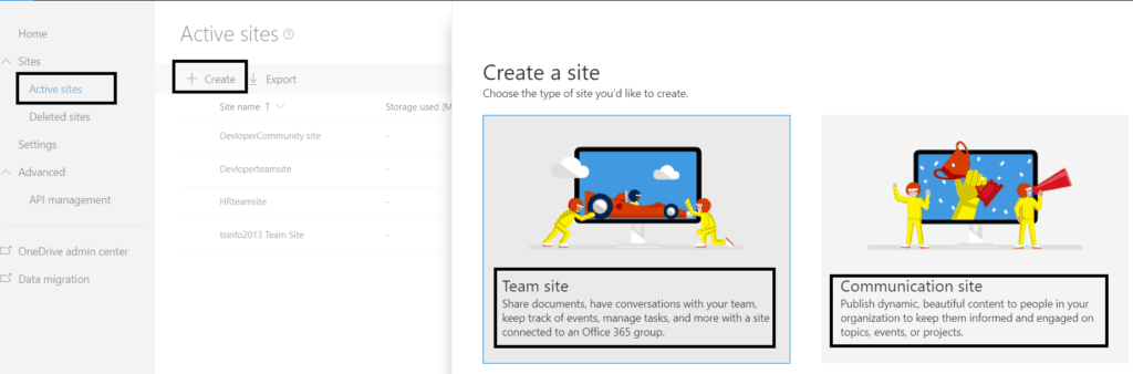 sharepoint team site examples